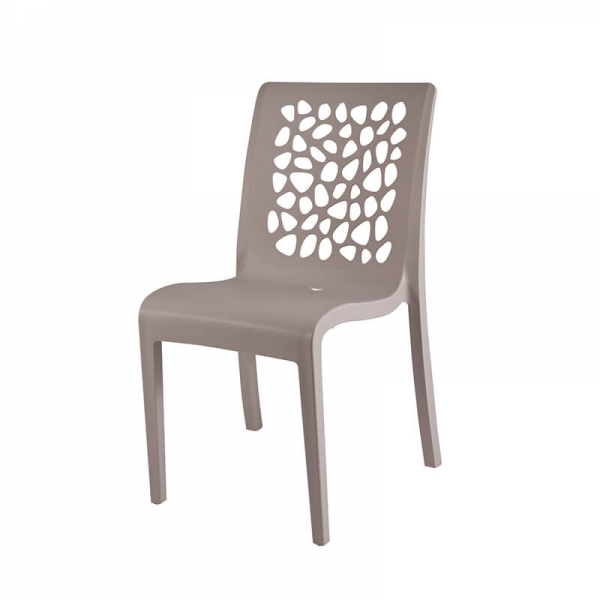 Chaise en polypropylène beige made in France - Tulipe Grosfillex - 2