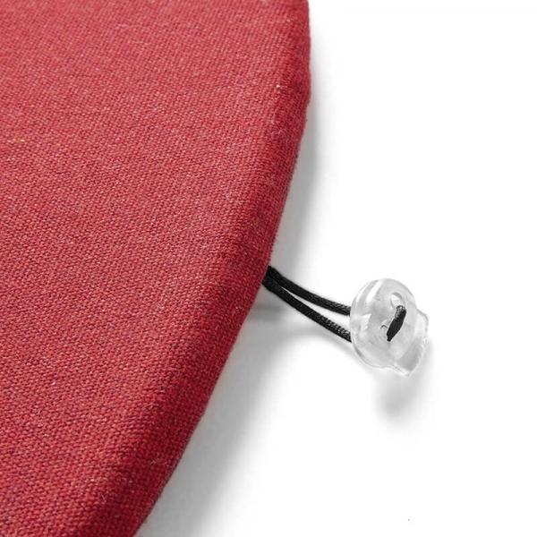 Coussin de fauteuil en tissu rouge chiné - Yéyé Grosfillex - 21