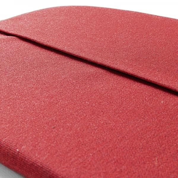 Coussin de fauteuil en tissu rouge chiné - Yéyé Grosfillex - 22