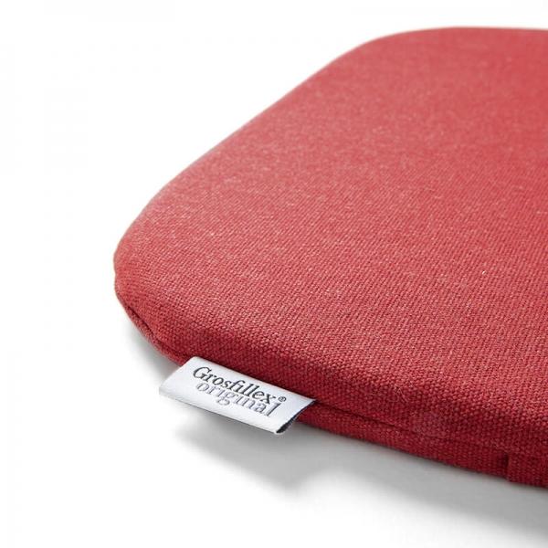 Coussin de fauteuil en tissu rouge chiné - Yéyé Grosfillex - 20