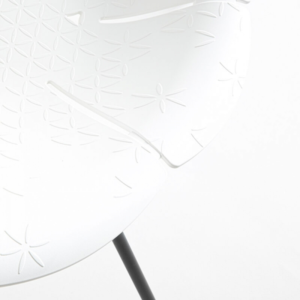 Fauteuil bas de jardin blanc fabrication française - Yéyé Grosfillex - 31