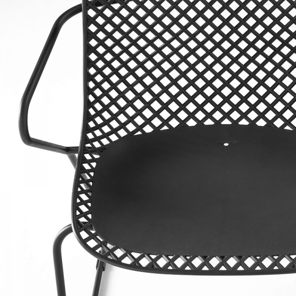 Chaise de jardin grillagée grise - Ramatuelle Grosfillex - 22