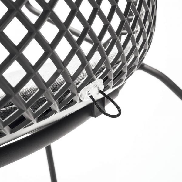 Chaise design grise coque grillage - Ramatuelle Grosfillex - 22
