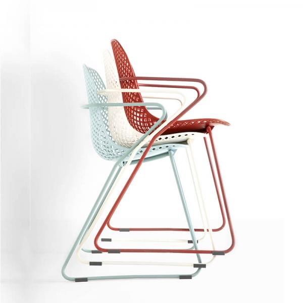 Chaises empilables vintage de fabrication française - Ramatuelle Grosfillex - 34