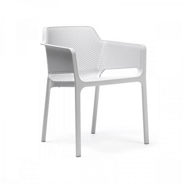 Fauteuil de terrasse moderne blanc - Net - 23