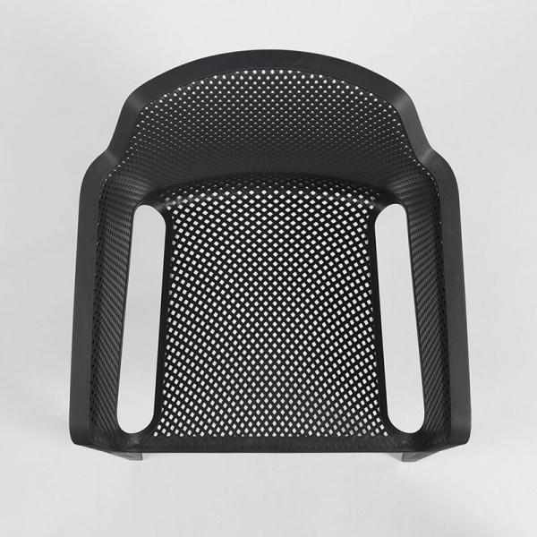 Fauteuil de terrasse moderne en polypropylène anthracite - Net - 15