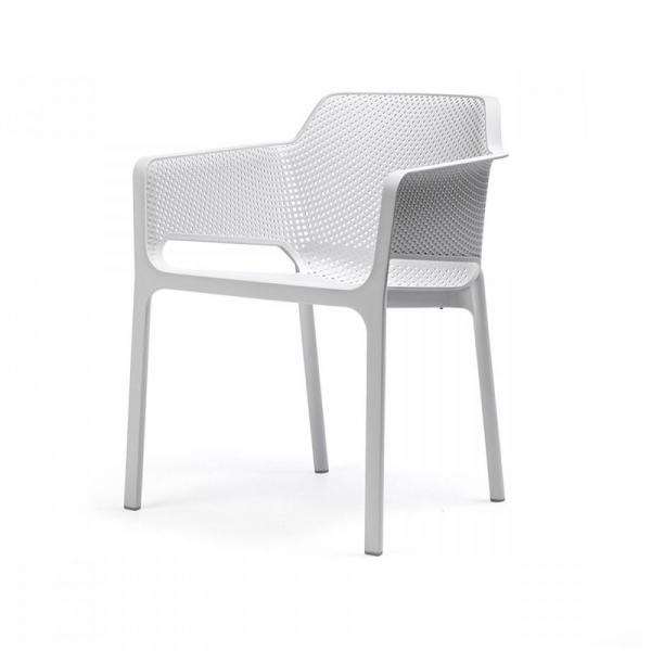 Fauteuil de terrasse moderne blanc - Net - 24
