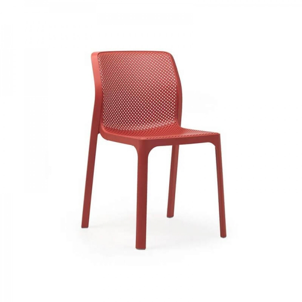 Chaise de jardin moderne en polypropylène corail - Bit - 11