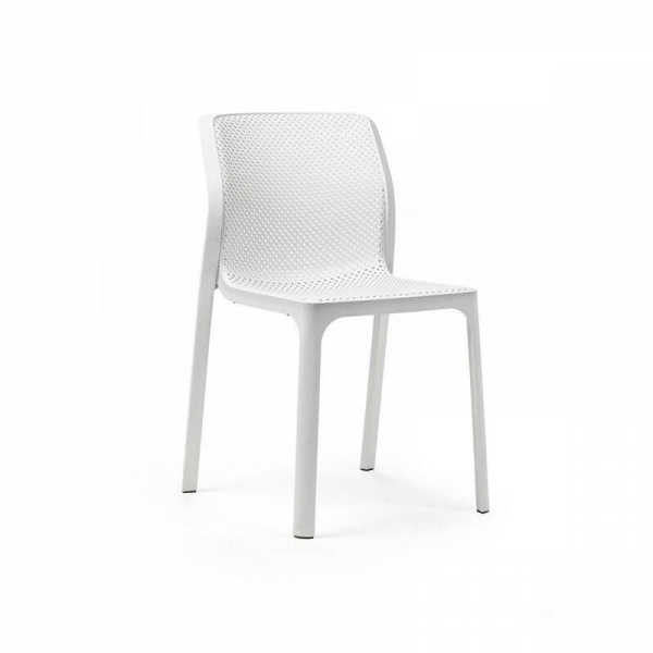Chaise de jardin moderne en polypropylène blanc - Bit - 7