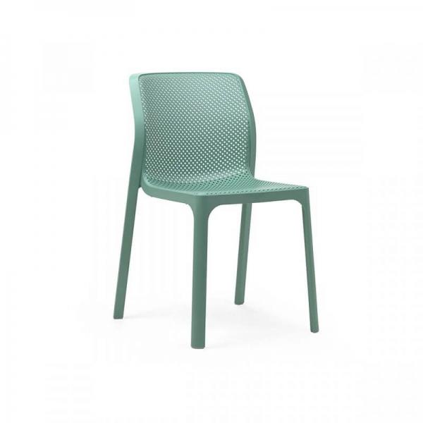 Chaise de jardin moderne en polypropylène vert salice - Bit - 17
