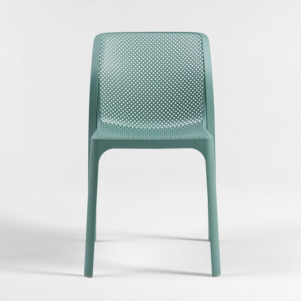 Chaise de jardin moderne en polypropylène vert salice - Bit - 21