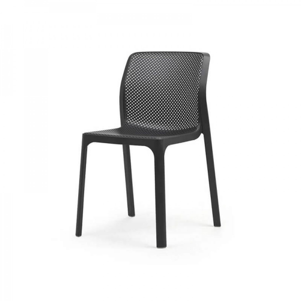 Chaise de jardin moderne en polypropylène anthracite - Bit - 10