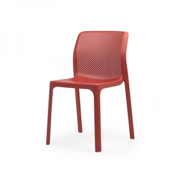 Chaise de jardin moderne en polypropylène corail - Bit - 12