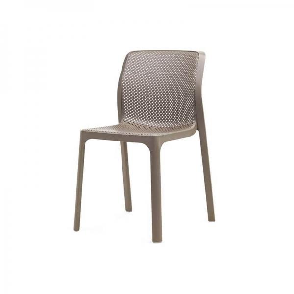 Chaise de jardin moderne en polypropylène taupe - Bit - 14