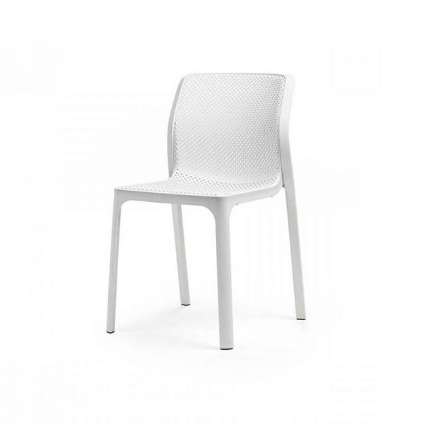 Chaise de jardin moderne en polypropylène blanc - Bit - 8