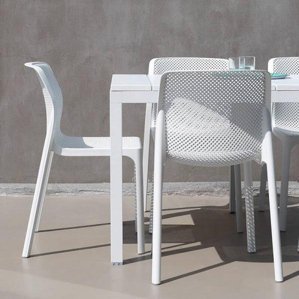 Chaise de jardin moderne en polypropylène blanc - Bit - 3