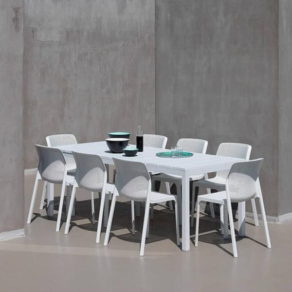 Chaise de jardin moderne en polypropylène blanc - Bit - 2