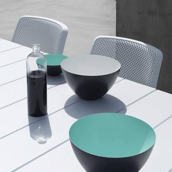 Chaise de jardin moderne en polypropylène blanc - Bit - 6