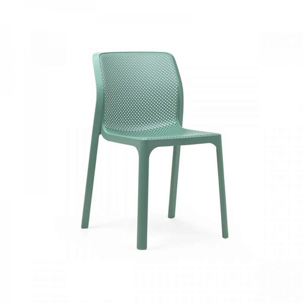 Chaise moderne empilable en polypropylène vert salice - Bit - 14
