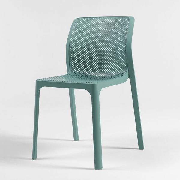Chaise moderne empilable en polypropylène vert salice - Bit - 16