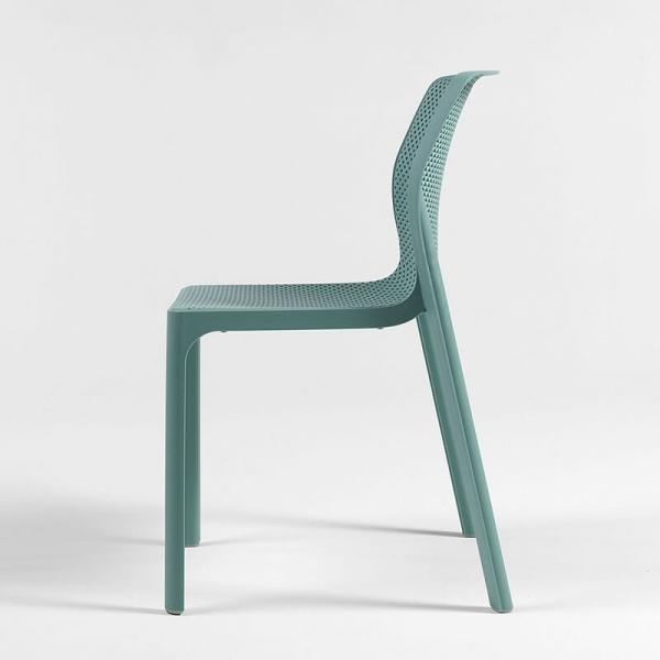 Chaise moderne empilable en polypropylène vert salice - Bit - 17