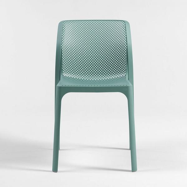 Chaise moderne empilable en polypropylène vert salice - Bit - 18