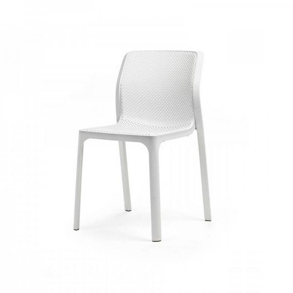 Chaise empilable en polypropylène blanc - Bit  - 11