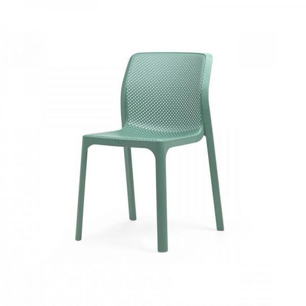 Chaise moderne empilable en polypropylène vert salice - Bit - 15
