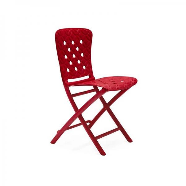 Chaise d'appoint pliante rouge avec motifs - Zac Spring - 8