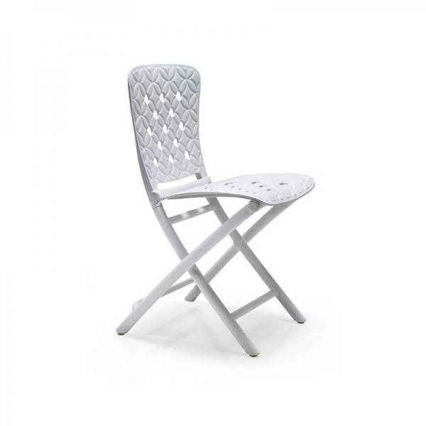 Chaise d'appoint pliable en polypropylène blanc avec motifs - Zac Spring - 2