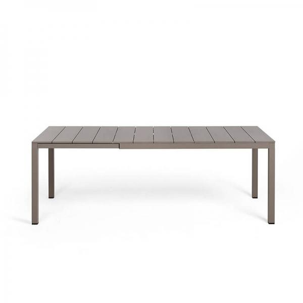 Table de jardin extensible en polypropylène DurelTop et aluminium taupe- Rio - 14