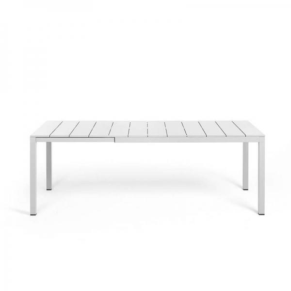 Table de jardin extensible en polypropylène DurelTop et aluminium blanc - Rio - 13