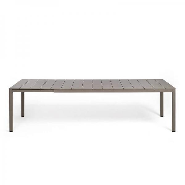 Table de jardin extensible en polypropylène DurelTop et aluminium taupe- Rio - 20