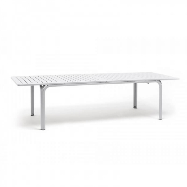 Table de jardin extensible en polypropylène blanc - Alloro 210 - 21