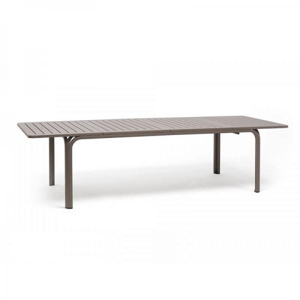 Table de jardin extensible en polypropylène taupe - Alloro 210 - 22