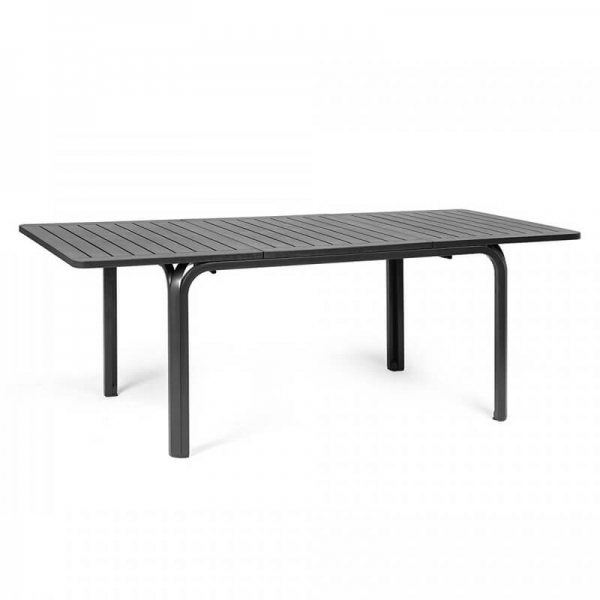 Table de jardin extensible en polypropylène anthracite - Alloro 140 - 14
