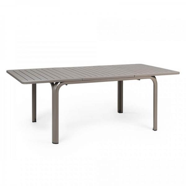 Table de jardin extensible en polypropylène taupe - Alloro 140 - 13