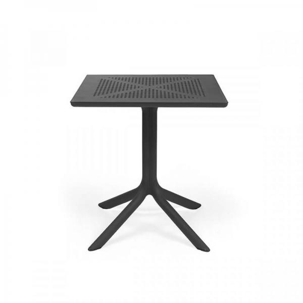 Petite table d'extérieur carrée en polypropylène anthracite - Clip 70 - 5