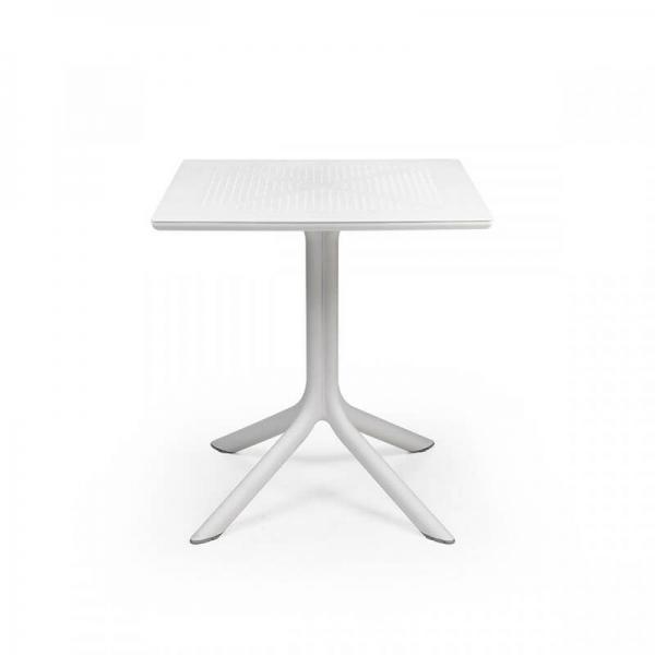 Petite table d'extérieur carrée en polypropylène blanc - Clip 70 - 6