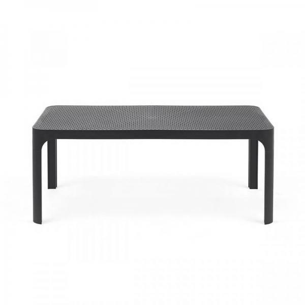 Table basse de jardin moderne avec plateau anthracite micro-perforé 100 x 60 cm - Net - 9