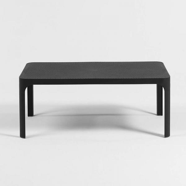 Table basse de jardin moderne avec plateau anthracite micro-perforé 100 x 60 cm - Net - 16