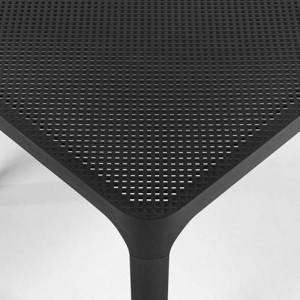 Table basse de jardin moderne avec plateau anthracite micro-perforé 100 x 60 cm - Net - 17