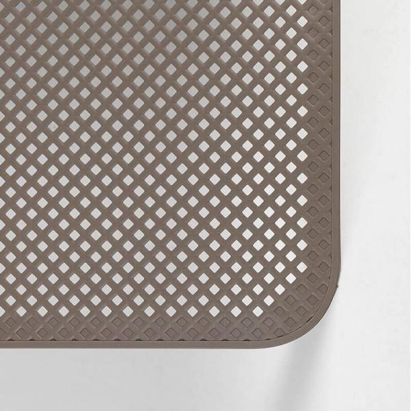 Table basse de jardin moderne avec plateau taupe micro-perforé 100 x 60 cm - Net - 19