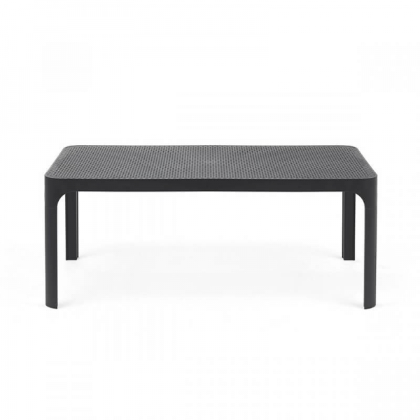 Table basse moderne avec plateau anthracite micro-perforé 100 x 60 cm - Net - 7