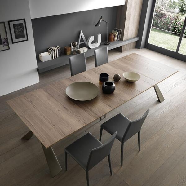 Table console avec allonges design pieds en métal fabriquée en Italie - Genesi - 4
