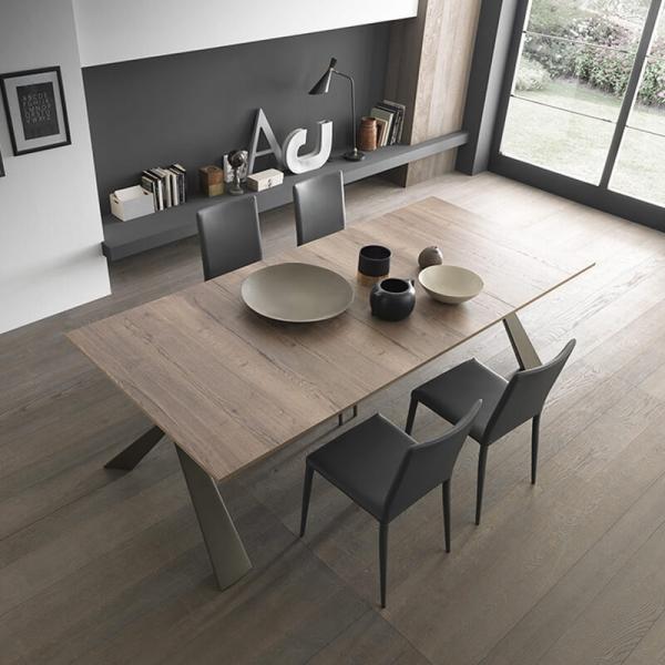 Table console avec allonges design pieds en métal fabriquée en Italie - Genesi - 5