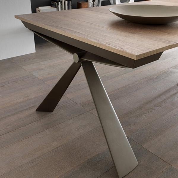 Console extensible design pieds en métal fabriquée en Italie - Genesi - 7