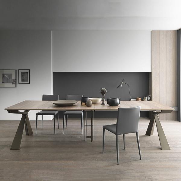 Table console extensible design pieds en métal fabriquée en Italie - Genesi - 8