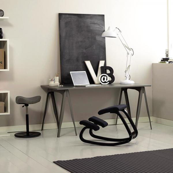 Chaise anti mal de dos en tissu noir - Variable Varier® - 14