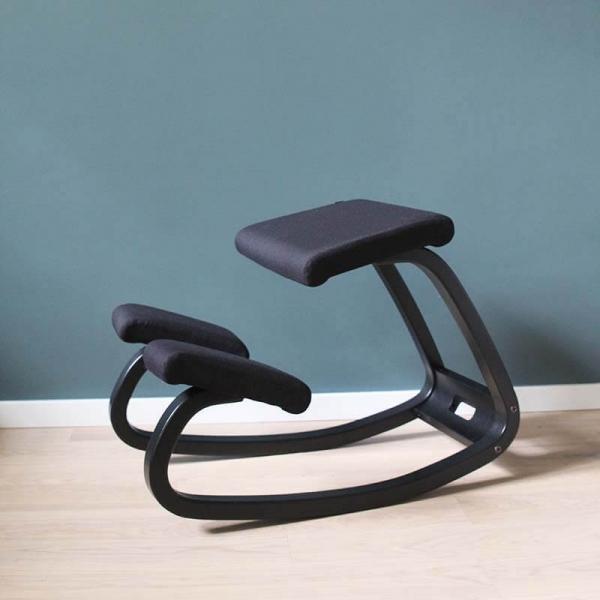 Chaise pour mal de dos en tissu noir - Variable Varier® - 9
